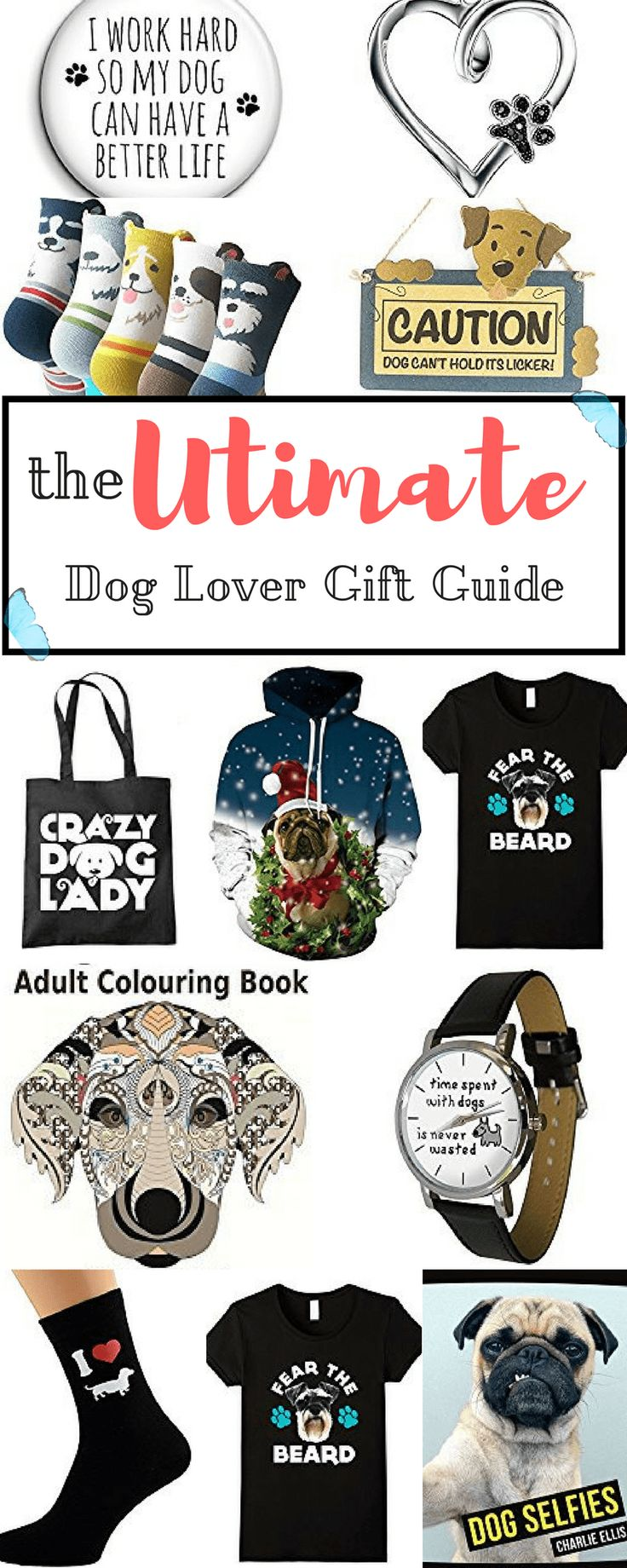 Are you a dog person in search of something awesome to give to another dog person? or even yourself, maybe? Here's the dog lover gift guide made specially for you!