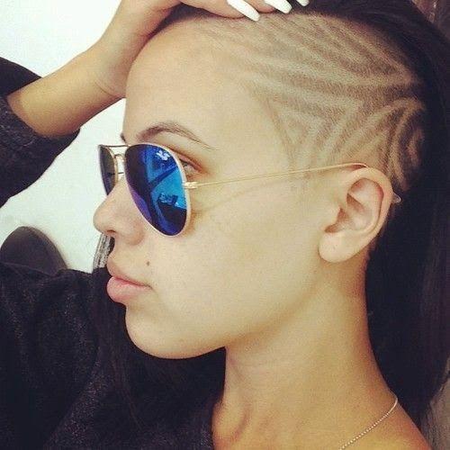 Impressive hair tattoos for girls!
