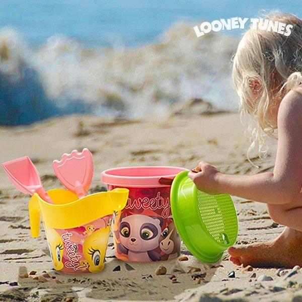 Gioco da Spiaggia con Pallone Titti (5 pezzi) Secchiello Mare