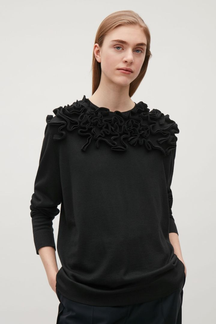COS image 2 of Abstract applique jumper in Black