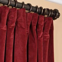 Burgundy Velvet Blackout Extra Wide Curtain Panel | Overstock.com Shopping - The Best Deals on Curtains