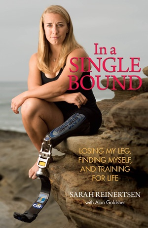 Sarah Reinertsen was born with a congenital birth defect. At the age of seven, her leg was amputated. She broke the 100-meter world record for female above-the-knee amputees at 13. At the age of thirty, she became the first female leg-amputee to complete the Ironman World Championship in Hawaii. A year later, in CBS's reality television show The Amazing Race 10, she scaled the Great Wall of China. This woman is courage and tenacity, in a 5-foot nothing, one-legged frame.  Awesome and…