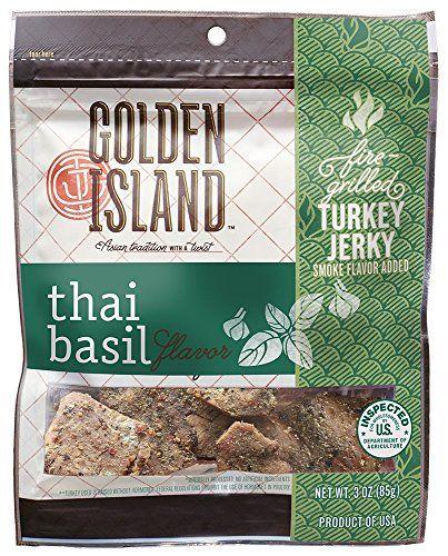 Golden Island Thai Basil Turkey Jerky, 3 oz. Golden Island