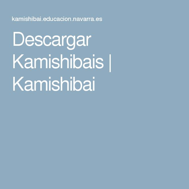 Descargar Kamishibais | Kamishibai
