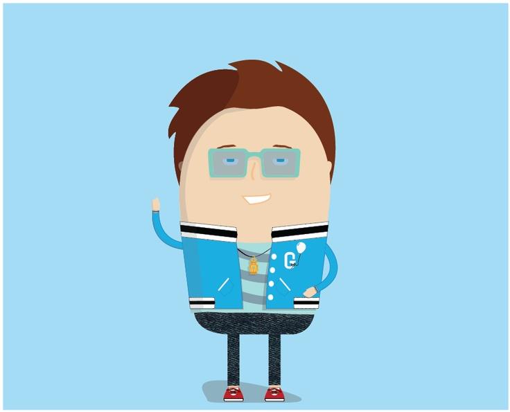 GarageTrader.com.au's mascot Gary  #graphic #design #cartoon #mascot