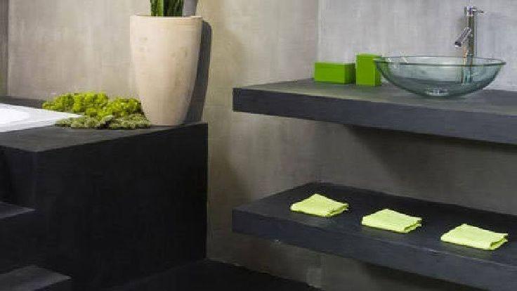 La peinture effet béton de Tollens idéale pour repeindre carrelage crédence et plan de travail de cuisine et salle de bain directement sans sous couche. convient aussi pour peindre sur support stratifié et bois brut
