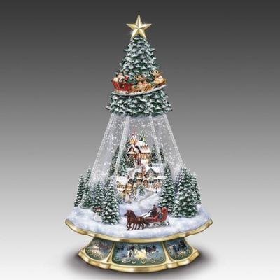 Victorian Memories Snow Globe Tree by Thomas Kinkade