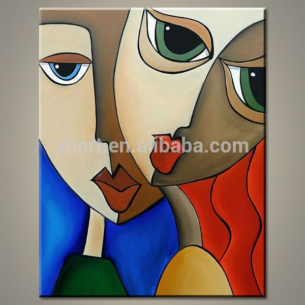 Popular Picasso Handmade Modern Abstract Sexy Women Canvas ...