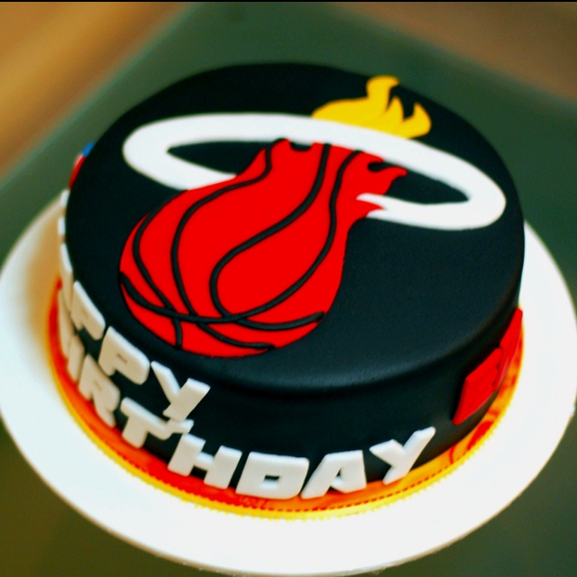 Miami Heat cake by Cherry's Cakes   I want to get my bf this for his bday soo bad.