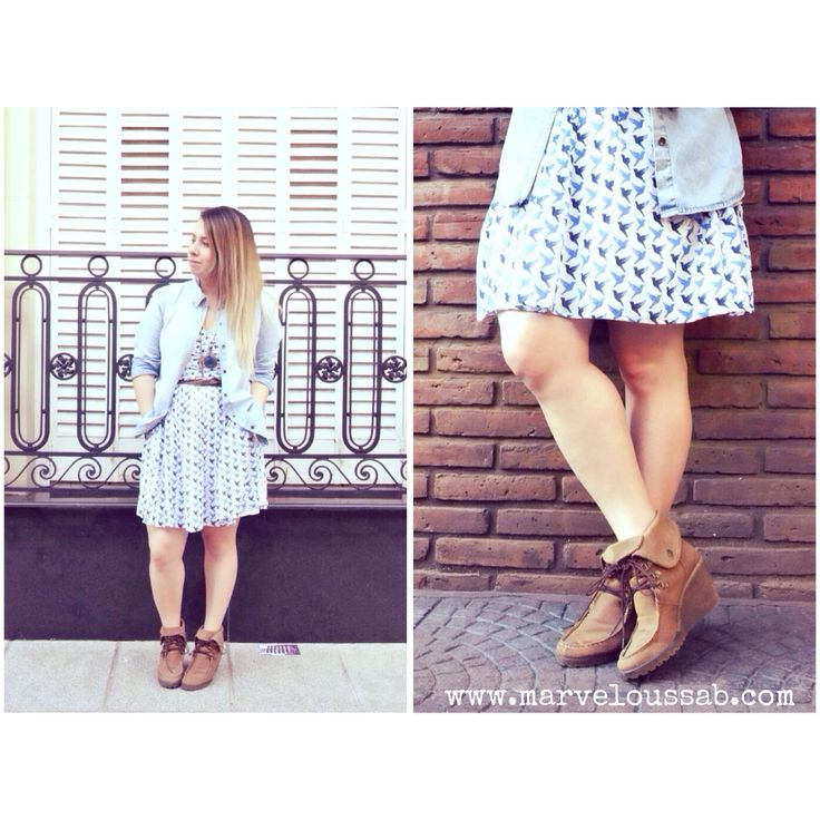 New blog post!! www.marveloussab.com #fashionblogger #springoutfit #chambray #dress