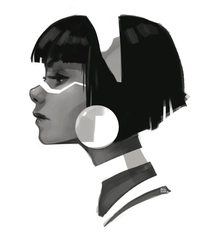 Remarkable Character Design by Fossard Christoph #illustration #character She's so perfect in this angle