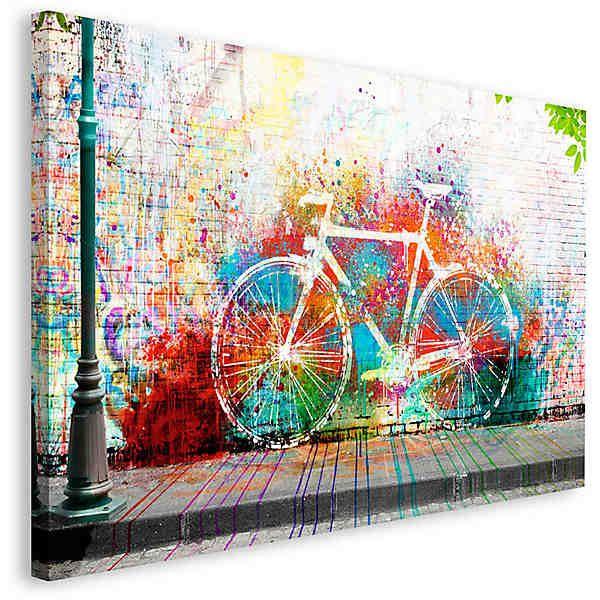 Home affaire, Deco Block »Wo ist das Fahrrad?«, 118/70 cm