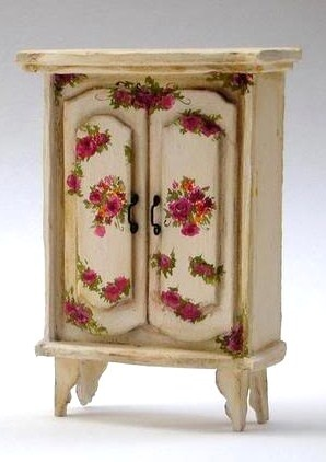 how to: Victorian floral cabinet