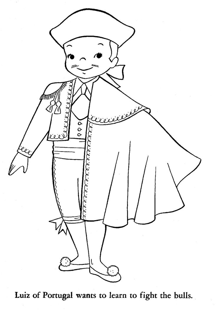 spain coloring pages for kids - photo#22