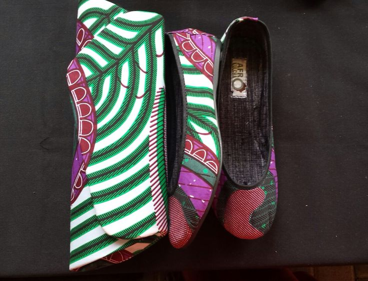 Love African print shoes and bags