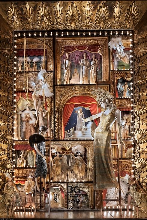 Every year Bergdorf Goodman, the luxury goods department store in New York, creates holiday windows. Last year's were inspired by different types of entertainment.