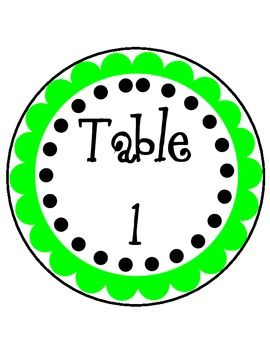 Hanging Numbers for Classroom Tables