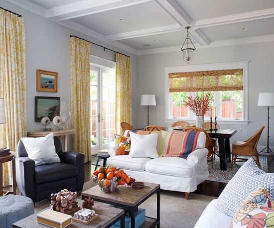 A fun eclectic mix of patterns and furnishings!