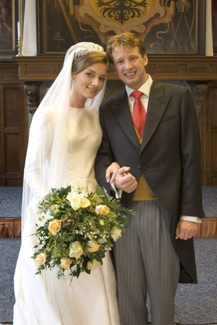 Prince Floris and Aimee of Orange-Nassau, van Vollenhoven-Sohnge wed on 22 Oct 2005