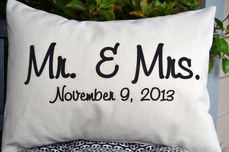 Unique Wedding Gifts Second Marriage : Personalized newlywed pillow, Wedding gift, 2nd anniversary, cotton ...