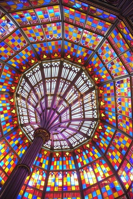 Stained Glass Dome. Photo by Jill Tarchala.