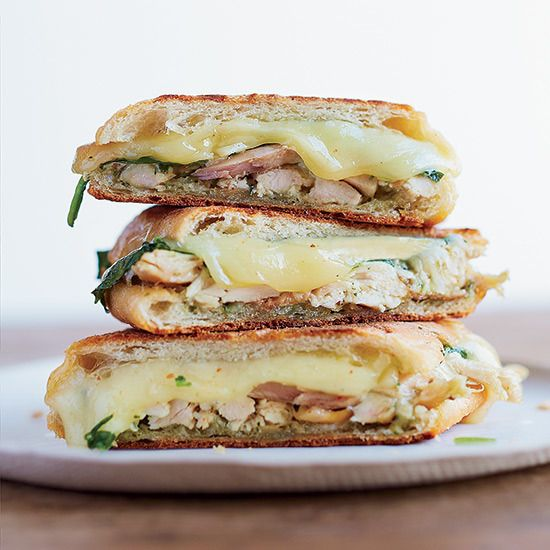 Chicken Panini with Spinach and Pesto by Food & Wine Magazine