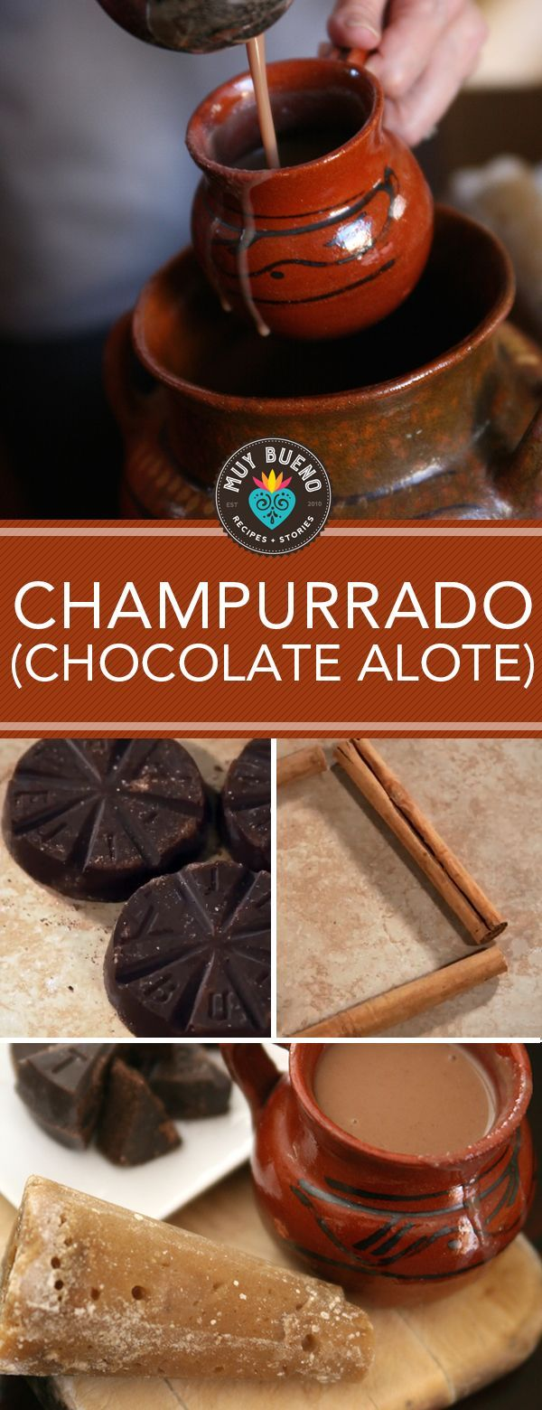 Champurrado is a chocolate-based drink with corn flour added to thicken it. Watch this video to learn how simple it is to make. Champurrado is a very popular drink during Dia de los Muertos (Day of the Dead) and Las Posadas during Christmas season. I like the hint of corn after the initial taste of chocolate on my taste buds.