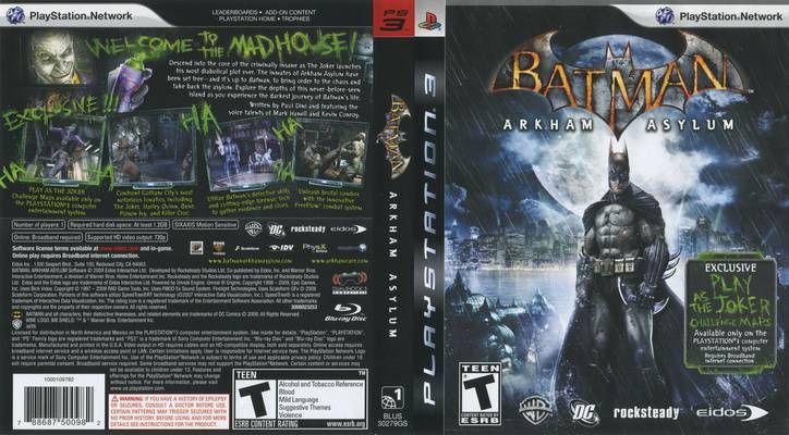 Batman Arkham Asylum 2009 R1 Front Playstation 3 C