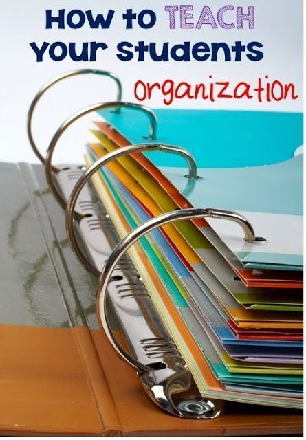Great post on how to teach your students to be organized