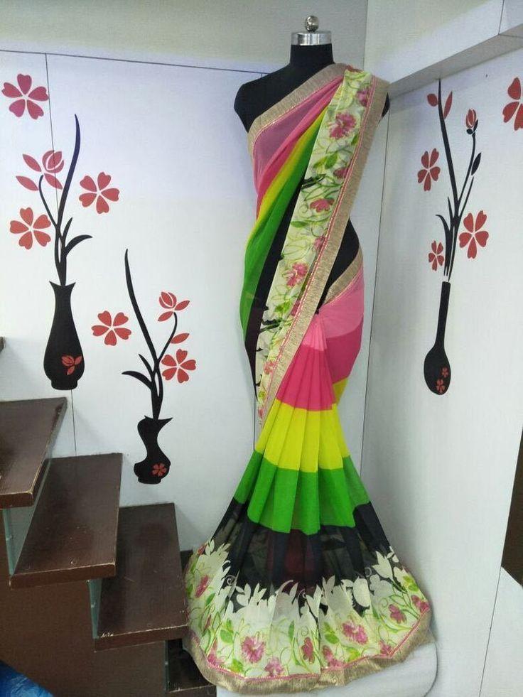 Indian Bollywood Saree Ethnic Pakistani Designer Sari Wedding Party Wear KC 340 #KrishaCreation #Indiananarkalisalwarsuit