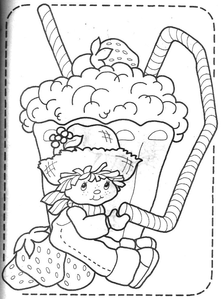 Printable Strawberry Shortcake Coloring Book Pages