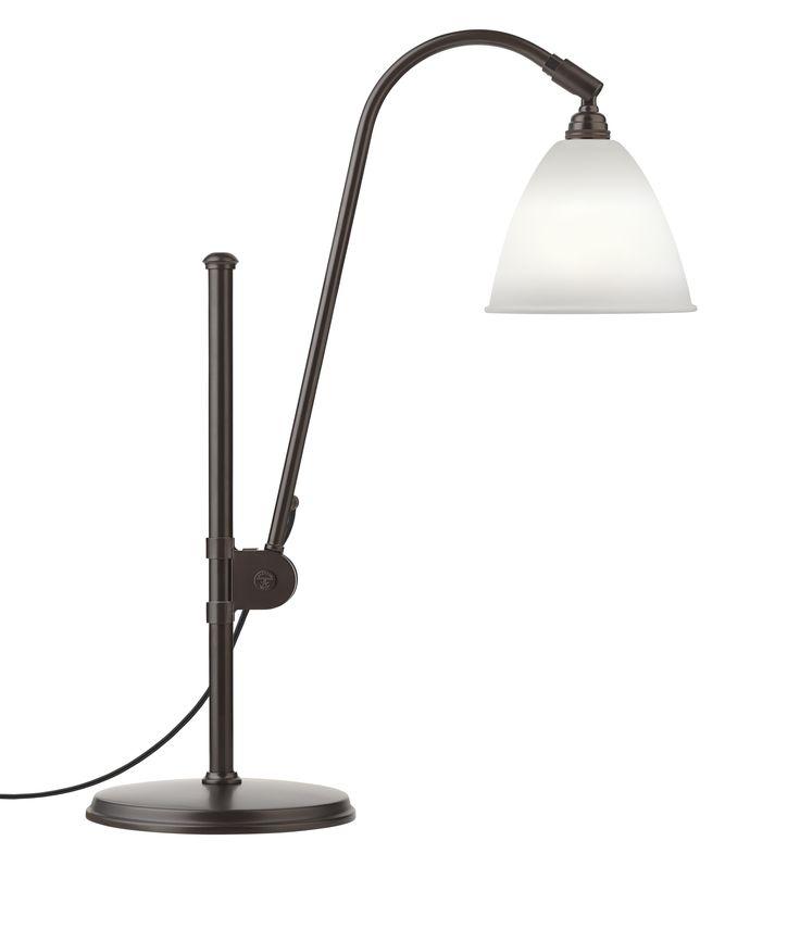 GUBI // Bestlite BL1 Table Lamp in bone china/black brass