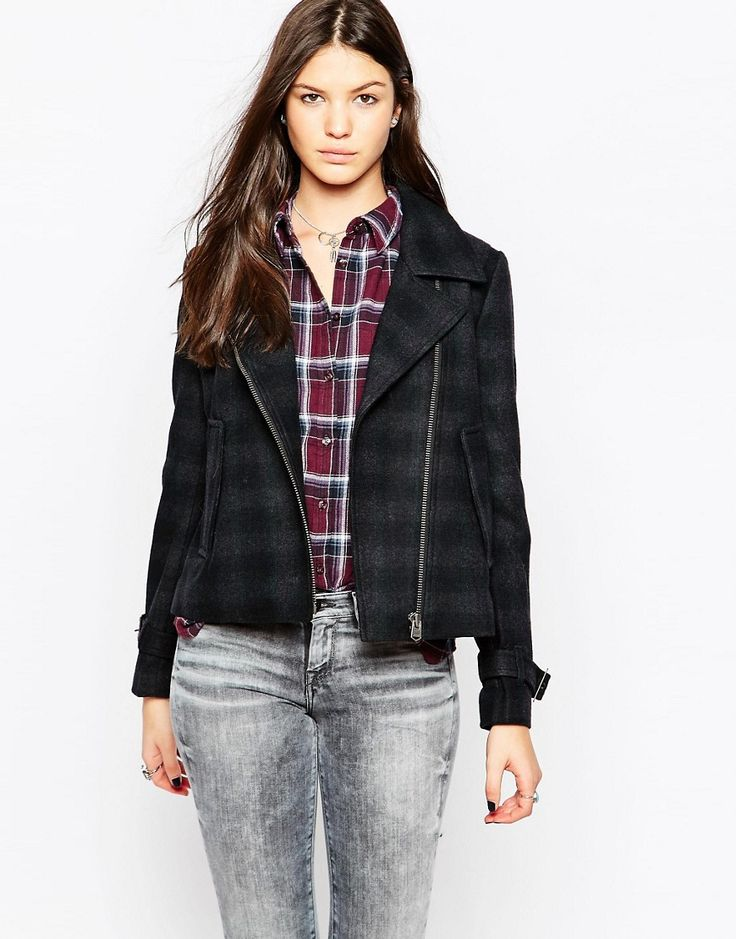 Pepe Jeans Penny Checked Biker Jacket http://www.sizestyler.co.uk/product/buy/pepe-jeans-penny-checked-biker-jacket--0aa-16021360