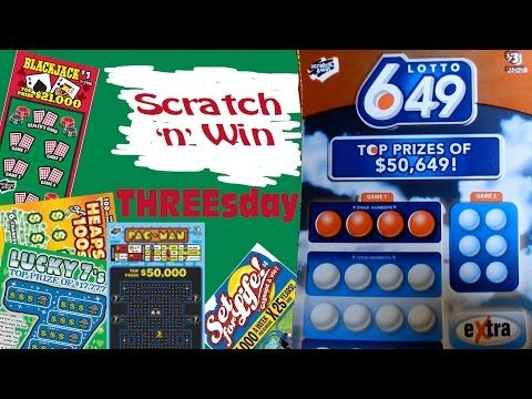 Scratch n Win Threesday Lotto 649 - YouTube