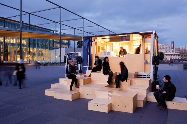 Hmmm also a good portable stage for a kids show by kids I have in mind Chasing Kitsune designed by Hassell.