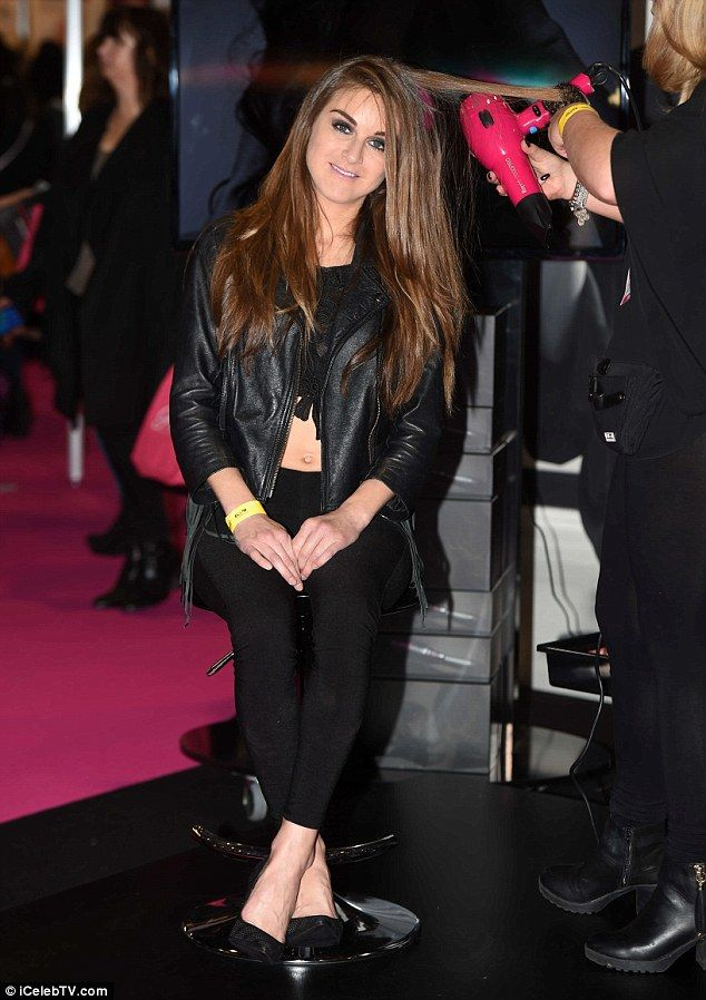 Hair flare: Nikki Grahame paid a visit to the Pro Blo bar to get her hair done
