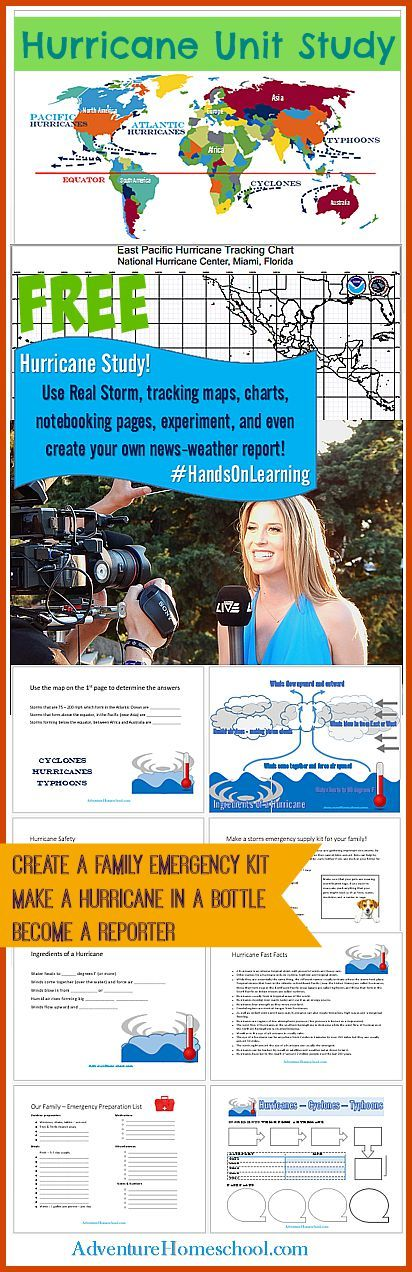 Hurricane Study - Homeschool Resources: Use Real life storm to teach about hurricanes and weather - become a reporter, charts, graphs and more! Free Resources