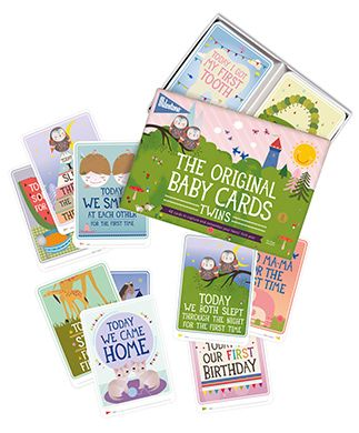 Milestone™ Baby Cards Twins - This set contains 48 photo cards with all the big events of their very first year. Simply fill in the date and take a picture of your babies together with the cards. Your baby pictures will be truly unforgettable.