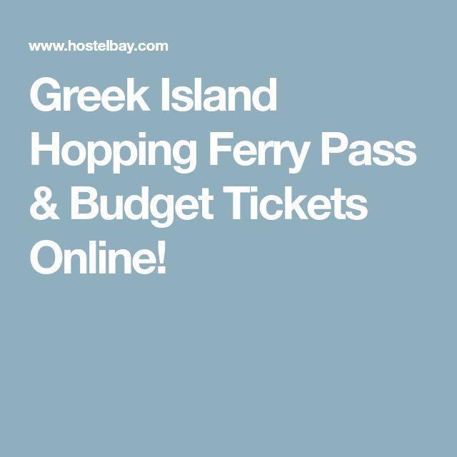 Greek Island Hopping Ferry Pass & Budget Tickets Online!