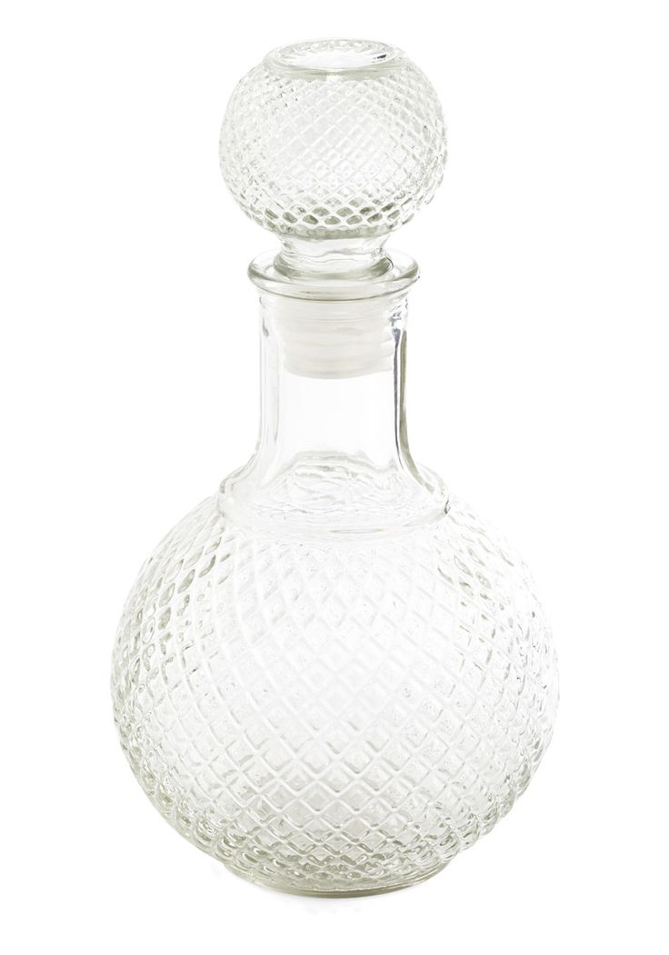 Container Your Excitement Decanter. Youve found the ideal accessory to top off your dinner decor with this glass decanter! #multi #modcloth