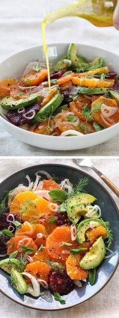 Citrus Fennel and #Avocado #Salad