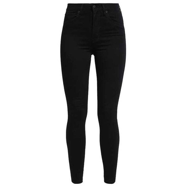 Levi's MILE HIGH SUPER SKINNY ($105) ❤ liked on Polyvore featuring jeans, pants, bottoms, calças, pantalones, levi skinny jeans, skinny leg jeans, skinny fit jeans, levi jeans and skinny jeans