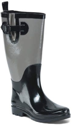 Rain Boots - Grey and Black