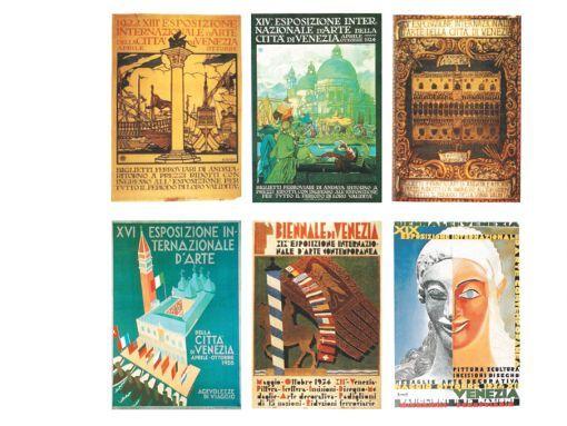 Manifesti per la Biennale di Venezia dal 1922 al 1934 tra i progettisti: Giulio Cisari, 1922; Marcello Dudovich, 1924; Brenno del Giudice, 1926; Giulio Rosso, 1928; Carlo Bisi, 1934; Marcello Nizzoli,1934