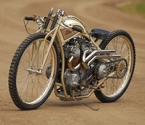 Hustler 8 valve by stellen egeland, one of the nicest boardtracker inspired motorcycles we have seen.