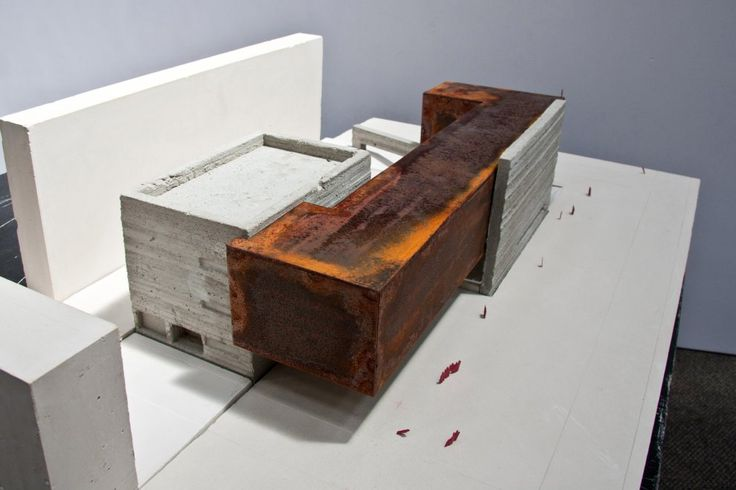 Museum of Modern Art (the City of Chisinau) - architecture model_ corten and concrete