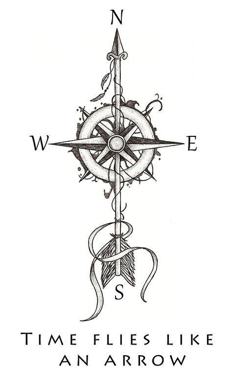 """Time flies like an arrow"" by Beatrizxe | #ilustração #illustration #artedigital #digitalart #tattoo #tatuagem"