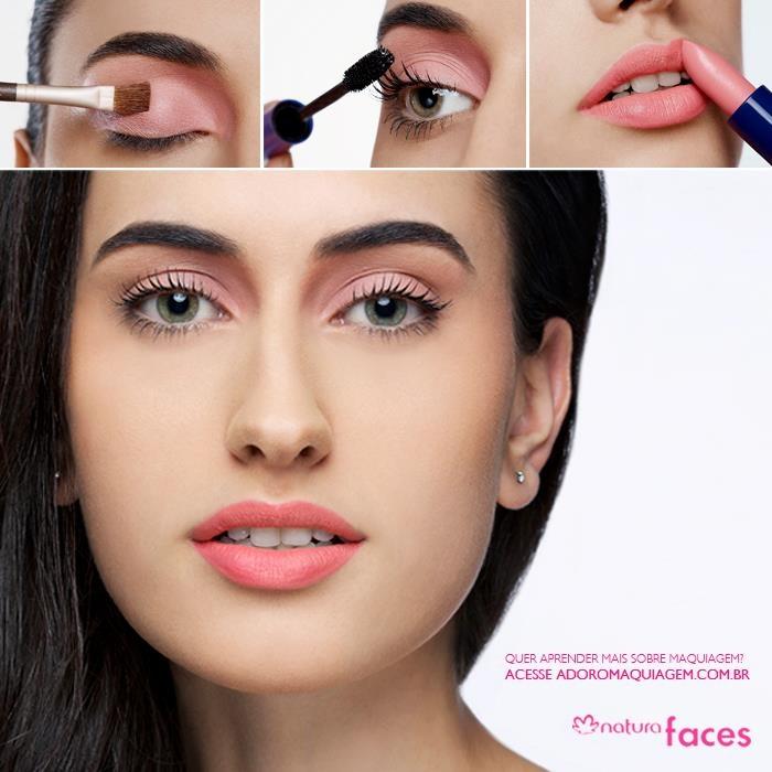 Para a correria do dia-a-dia nada melhor do que um look prático. Essa é nossa sugestão: http://www.adoromaquiagem.com.br/dicas-maquiagem/novidades-tendencias/maquiagem-para-o-dia-a-dia/16743/ #maquiagem #rosa