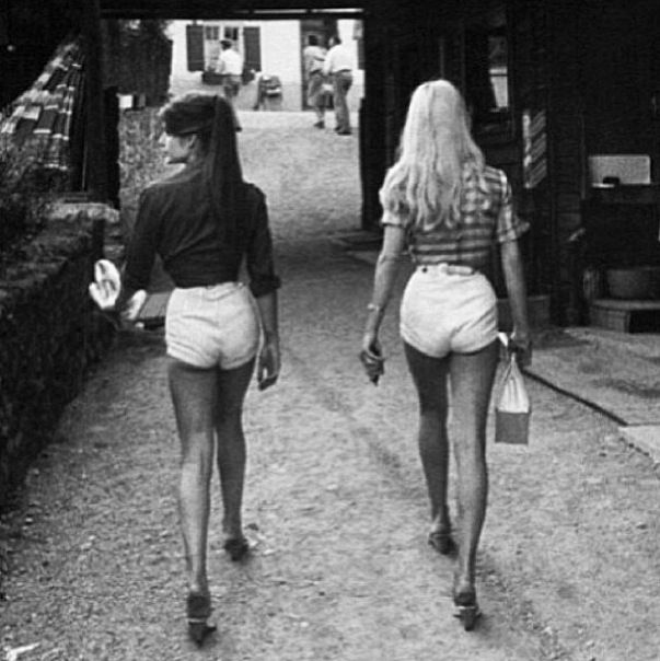 jean shorts, brigitte bardot, jane birkin, fashion, sixties