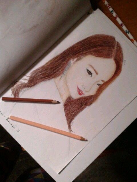 9 Muses Kyungri :-) drawing :-)